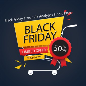 Black Friday SEO tools offer 1 Year Zik Analytics Single Plan